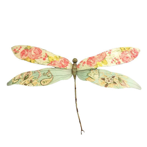 Eangee Dragonfly Wall Decor Pink And Blue