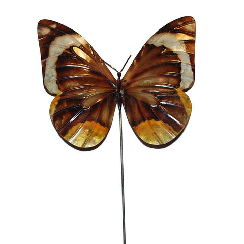 Eangee Garden Stake Butterfly Brown