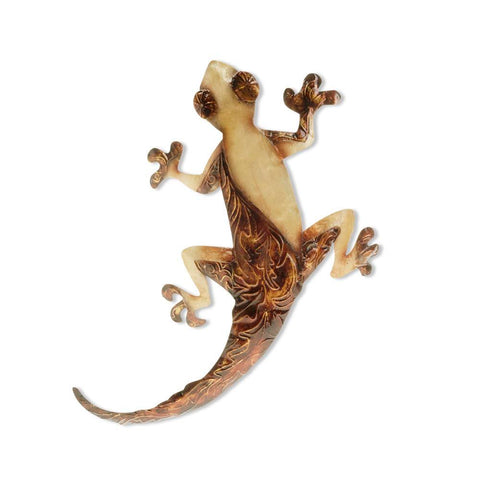 Eangee Gecko Wall Decor Pearl And Tan