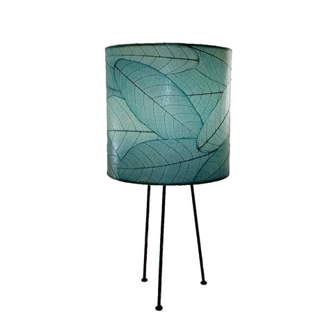 Eangee Metal Tripod Drum Table Lamp Sea Blue