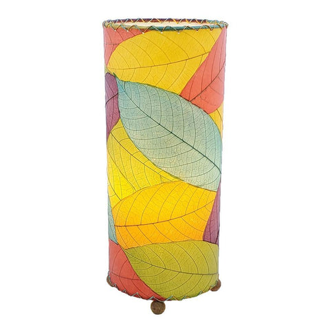 Eangee Outdoor Indoor Cocoa Leaf Cylinder Table Lamp Multi