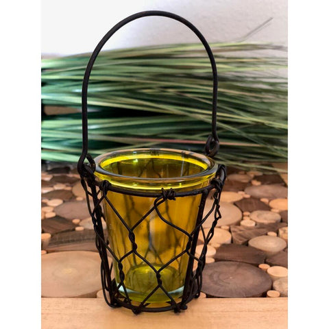 Eangee Single Votive Candle Holder Yellow