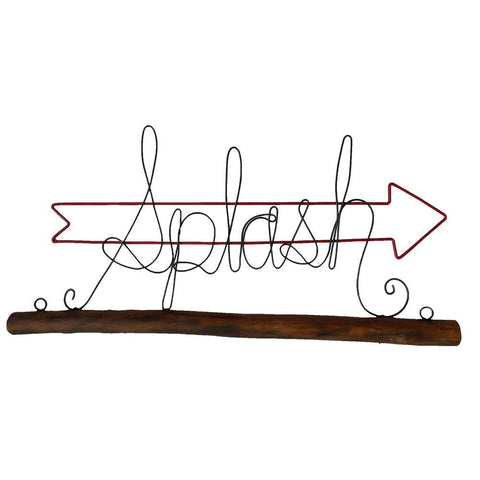 Eangee Splash With Red Open Arrow Wall Decor