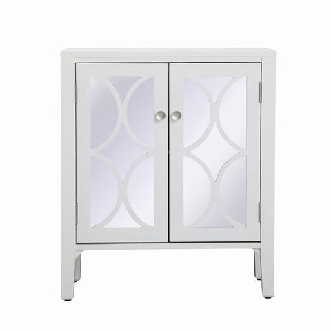Elegant Lighting 28 inch mirrored cabinet in White