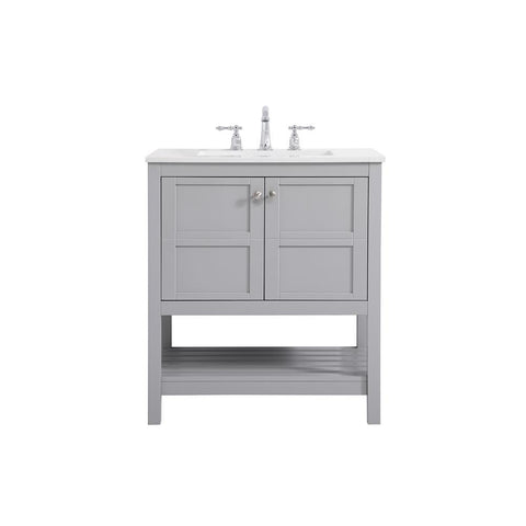Elegant Lighting 30 inch Single Bathroom Vanity in Gray