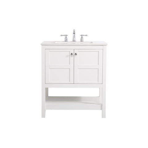 Elegant Lighting 30 inch Single Bathroom Vanity in White