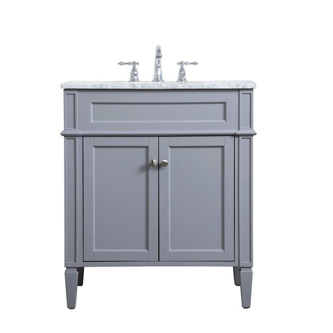 Elegant Lighting 30 inch single bathroom vanity in Grey