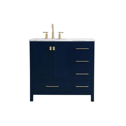 Elegant Lighting 36 inch Single Bathroom Vanity in Blue