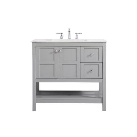 Elegant Lighting 36 inch Single Bathroom Vanity in Gray