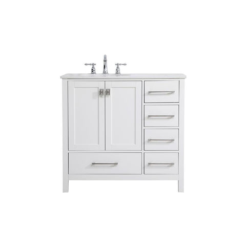 Elegant Lighting 36 inch Single Bathroom Vanity in White