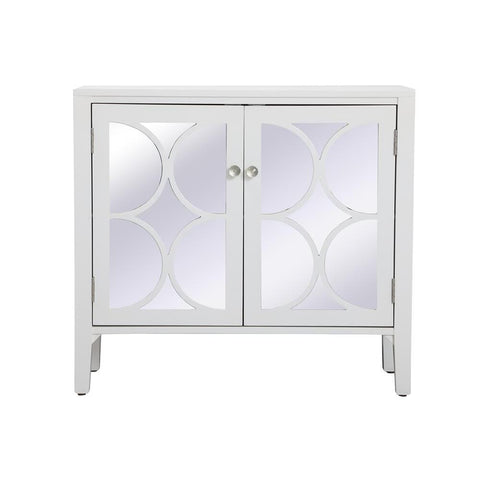 Elegant Lighting 36 inch mirrored cabinet in White
