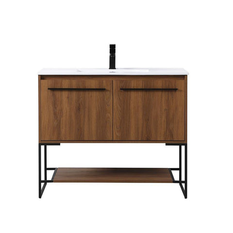 Elegant Lighting 40 inch  Single Bathroom Vanity in Walnut Brown