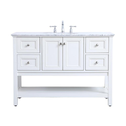 Elegant Lighting 48 in. single bathroom vanity set in White