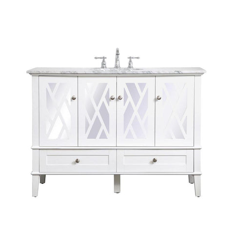 Elegant Lighting 48 inch Single Bathroom Vanity Set In White