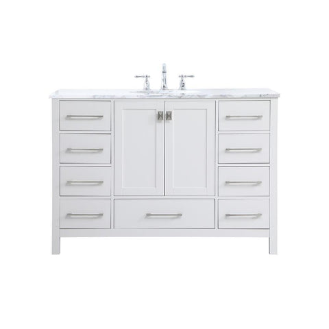 Elegant Lighting 48 inch Single Bathroom Vanity in White