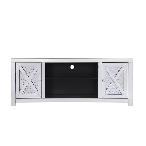 Elegant Lighting 59 in. crystal mirrored TV stand