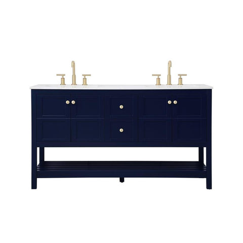 Elegant Lighting 60 inch Single Bathroom Vanity in Blue