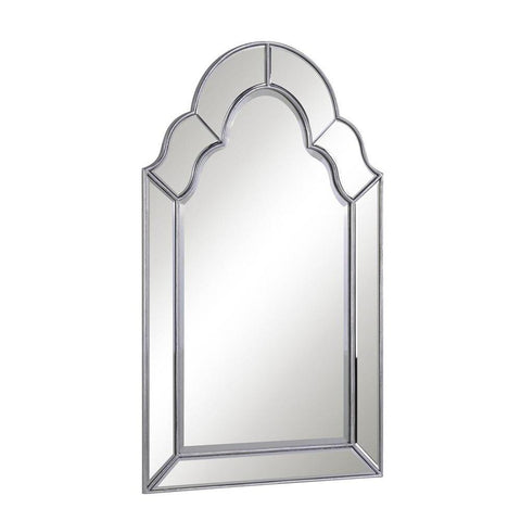Elegant Lighting Antique 25 in. Contemporary Mirror in Antique Silver leaf