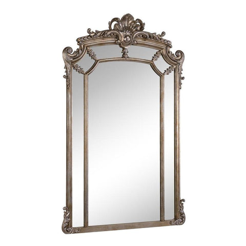 Elegant Lighting Antique 30 in. Contemporary Mirror in Antique Silver leaf