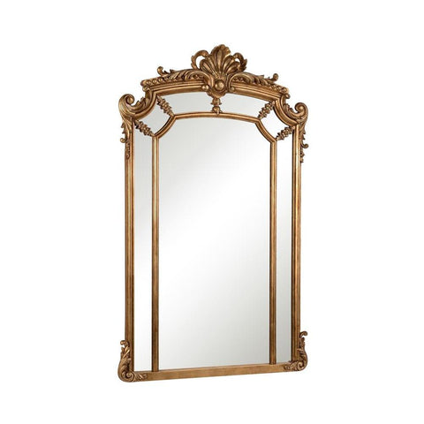 Elegant Lighting Antique 30 in. Contemporary Mirror in Antique gold leaf