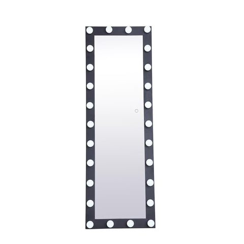 Elegant Lighting Brenda 24 inch by 71 inch plug in LED 5000K mirror in black