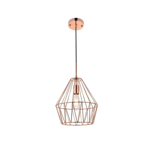 Elegant Lighting Candor 1 light rose gold Pendant