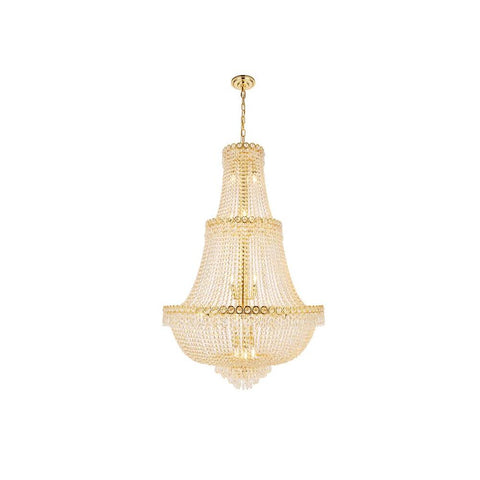 Elegant Lighting Century 17 light Gold Chandelier Clear Swarovski Elements Crystal