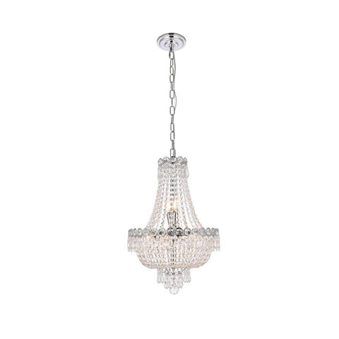 Elegant Lighting Century 8 light Chrome Pendant Clear Elegant Cut Crystal