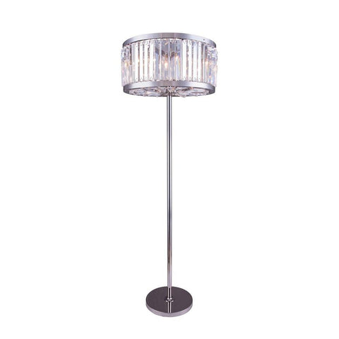 Elegant Lighting Chelsea 6 light Polished nickel Floor Lamp Clear Royal Cut Crystal