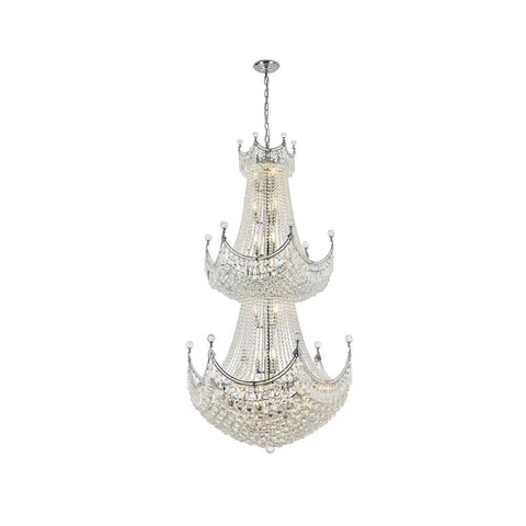 Elegant Lighting Corona 36 light Chrome Chandelier Clear Swarovski Elements Crystal