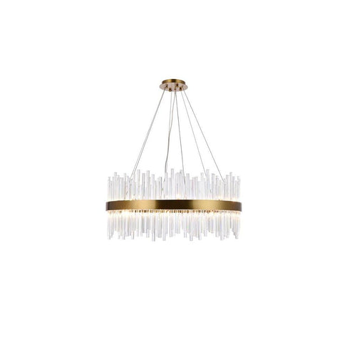 Elegant Lighting Dallas 18 light Gold Chandelier Clear Royal Cut Crystal