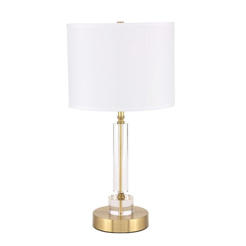 Elegant Lighting Deco 1 light Brass Table Lamp