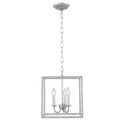 Elegant Lighting Eclipse 3 light Vintage silver pendant