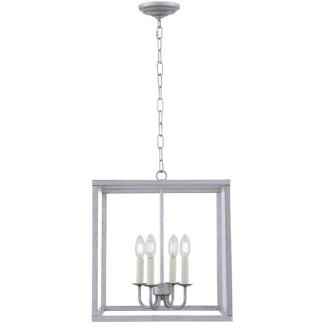 Elegant Lighting Eclipse 4 light Vintage silver pendant