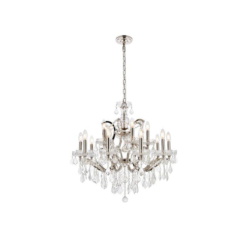 Elegant Lighting Elena 15 light Polished Nickel Chandelier clear Royal Cut crystal