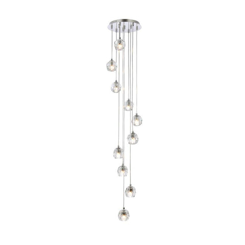 Elegant Lighting Eren 10 lights Chrome pendant