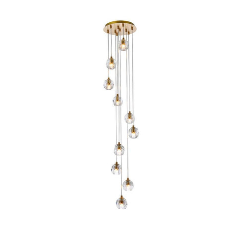 Elegant Lighting Eren 10 lights Gold pendant