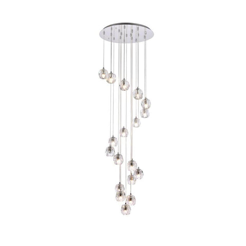 Elegant Lighting Eren 18 lights Chrome pendant