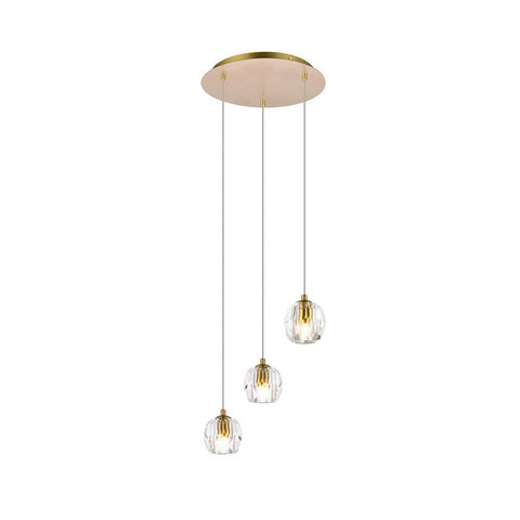 Elegant Lighting Eren 3 lights Gold pendant