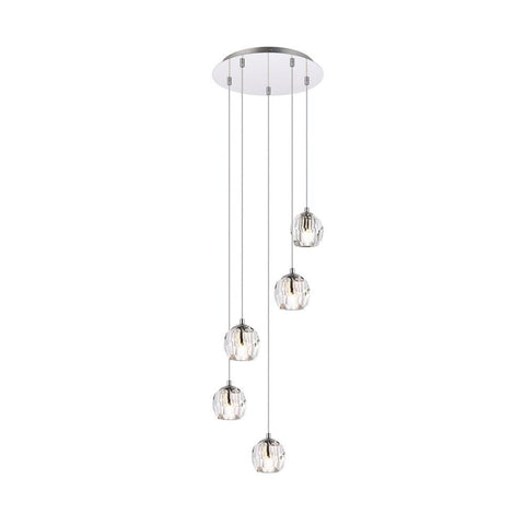 Elegant Lighting Eren 5 lights Chrome pendant