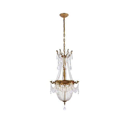 Elegant Lighting Esperanza 6 light French Gold Pendant Clear Elegant Cut Crystal