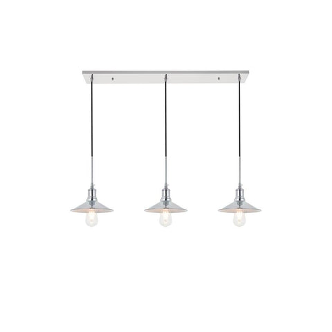 Elegant Lighting Etude 3 light chrome Pendant