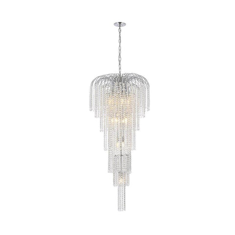 Elegant Lighting Falls 11 light Chrome Chandelier Clear Swarovski Elements Crystal
