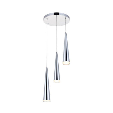 Elegant Lighting Fantasia 3 light Chrome LED Pendant