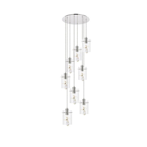 Elegant Lighting Hana 8 lights Chrome Pendant