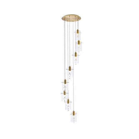 Elegant Lighting Hana 8 lights Gold Pendant