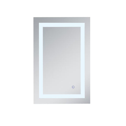 Elegant Lighting Helios 20in x 30in Hardwired LED mirror with touch sensor and color changing temperature 3000K/4200K/6400K