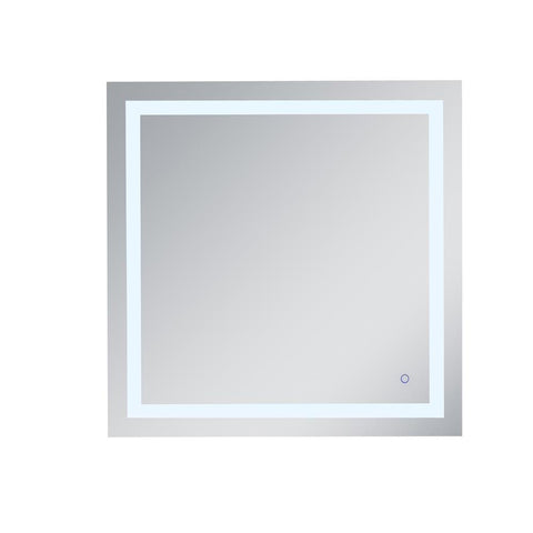 Elegant Lighting Helios 36in x 36in Hardwired LED mirror with touch sensor and color changing temperature 3000K/4200K/6400K
