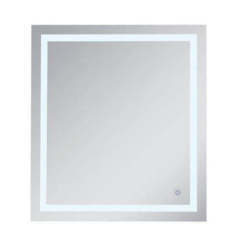 Elegant Lighting Helios 36in x 40in Hardwired LED mirror with touch sensor and color changing temperature 3000K/4200K/6400K