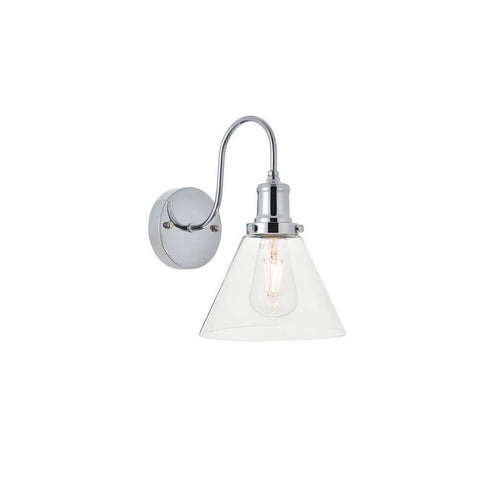 Elegant Lighting Histoire 1 light chrome Wall Sconce